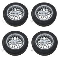"FORD FIESTA MK7 / MK8 15"" 4 STUD 8 SPOKE SPORT ALLOY WHEEL SET x 4 2009 - 2016"